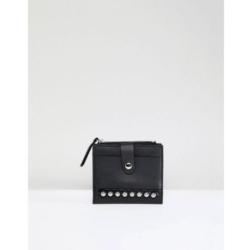 studded mini card holder purse - black marki French connection