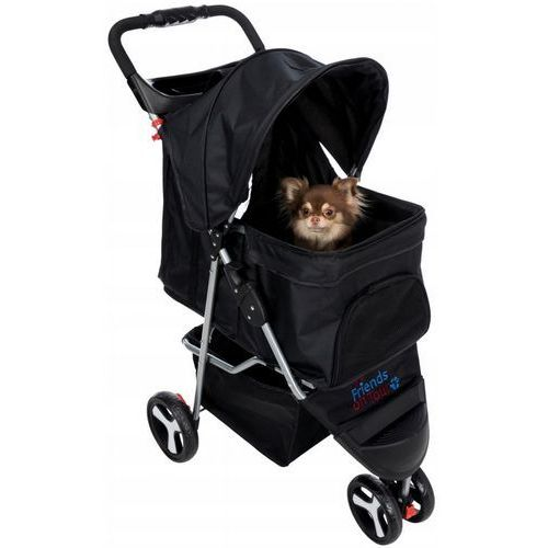 Trixie wózek dla zwierząt 47x100x80cm czarny