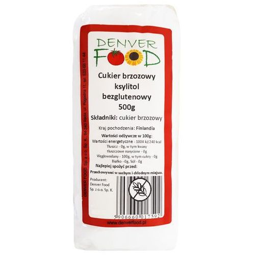 Cukier brzozowy, ksylitol bezglutenowy 500 g marki Denver food