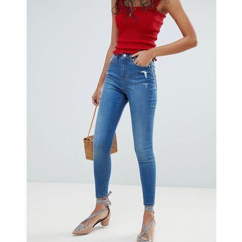 Miss Selfridge Lizzie Mid Wash Skinny Jeans - Blue, skinny