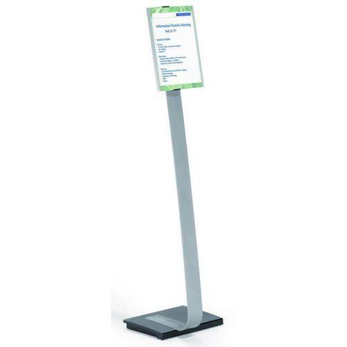 Stojak podłogowy z tablicą informacyjną, z aluminium, din a4, szer. x wys. 210x2 marki Durable