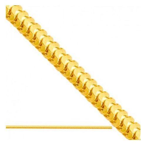 Rodium Łańcuszek złoty pr. 585 - lv005