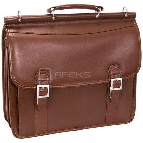 """Mcklein halsted skórzana teczka / torba na ramię na laptopa 15,6"""" - brązowy"""