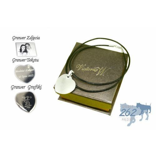Victoriaw. Zawieszka bransoleta srebro serce 3 grawer zdjecia+etui