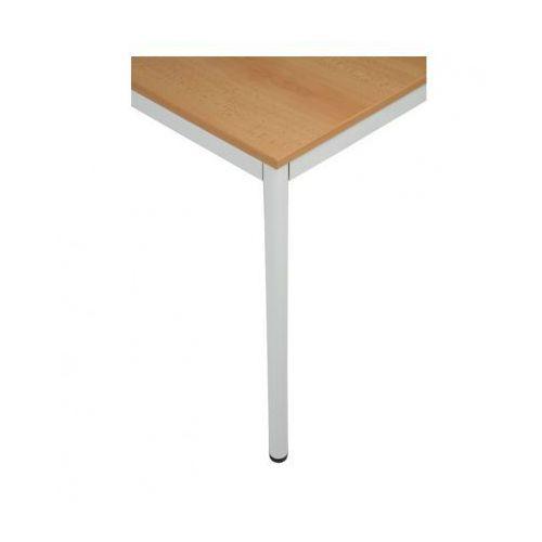 B2b partner Stół kuchenny - okrągłe nogi, jasnoszara konstrukcja, 1200x800 mm