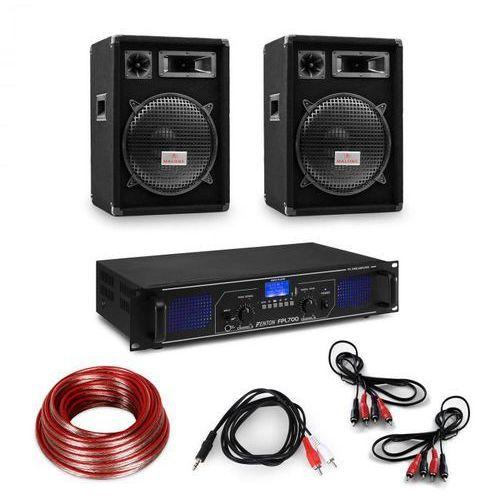 """Electronic-Star Zestaw wzmacniacz hi-fi & kolumny, wzmacniacz 2x350W, 2 x głośnik 12"""", 300W RMS"""