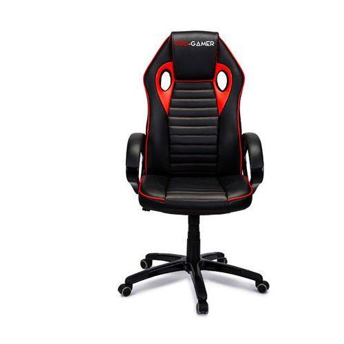 Fotel gamingowy FLAME czerwony PRO-GAMER dla graczy