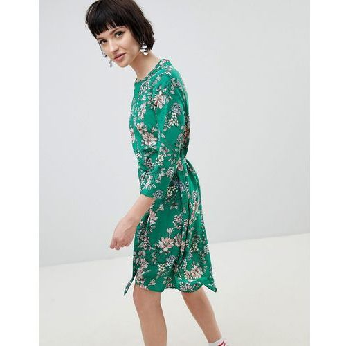 floral midi dress - green marki New look