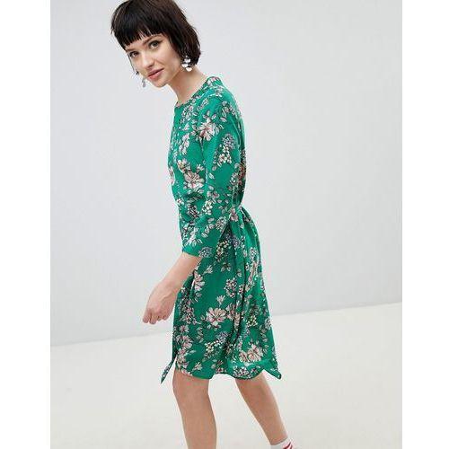 floral midi dress - green, New look