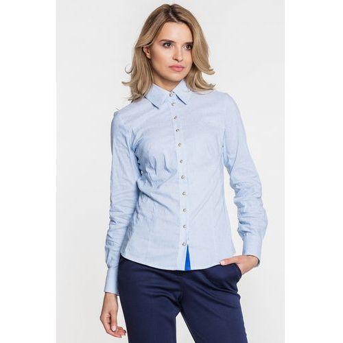 Koszula błękitna w prążki - Duet Woman, 1 rozmiar