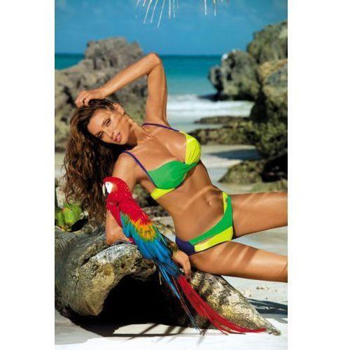 Kostium Kąpielowy Model Christina Royal Blue-Crickiet-Beat M-348 Szafir/Yellow/Green