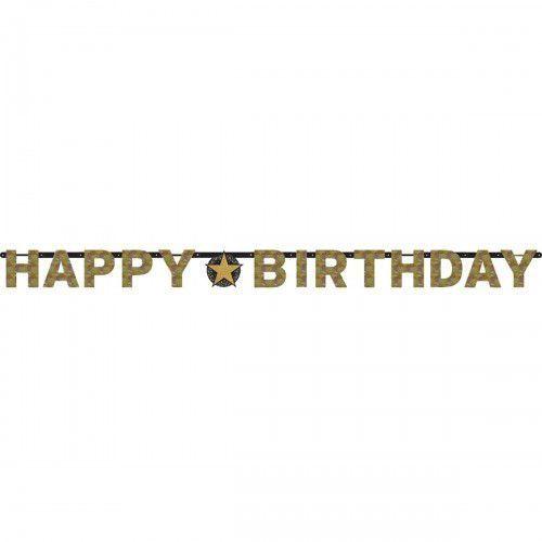 Baner urodzinowy uniwersalny złoty&srebrny Sparkling Celebration, BANER/5692-A