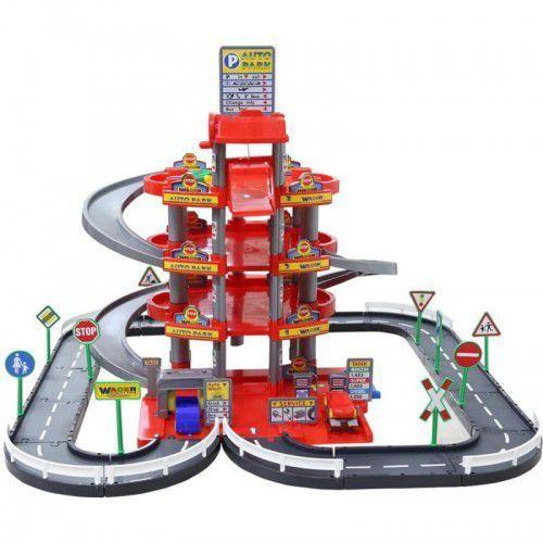 Wader Wielki garaż Auto Park 3 auta Myjnia Tor 4 poziomy, LEK-353