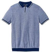 Shirt polo w wygodnym fasonie bonprix kobaltowy melanż, bawełna
