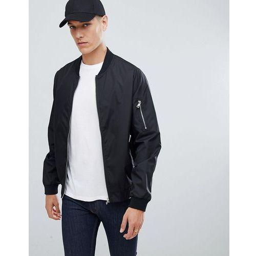 nylon zip through bomber jacket - black marki D-struct