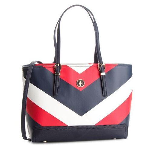 Tommy hilfiger Torebka - honey med tote print aw0aw05665 902