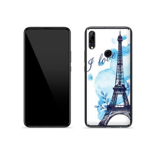 Huawei p smart z - etui na telefon fantastic case - niebieska wieża eiffla marki Etuo fantastic case