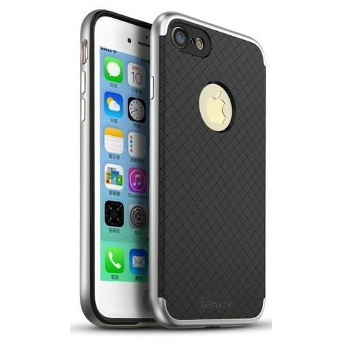 Ipaky Etui premium hybrid iphone 7 silver + szkło