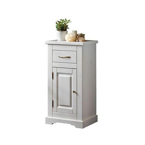 Szafka niska Romantic 45 x 85 x 30 cm biała, kolor biały