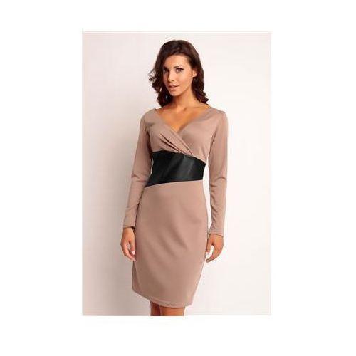 Sukienka Model Oriana Knitwear Beige, kolor beżowy