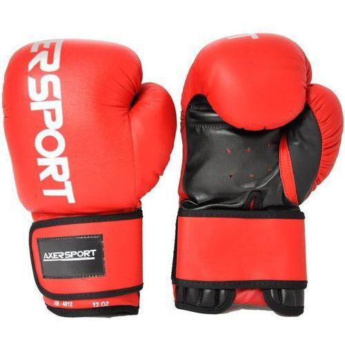 Rękawice bokserskie AXER SPORT A1327 Czerwono-Czarny (12 oz) + Zamów z DOSTAWĄ JUTRO! (5901780913274)