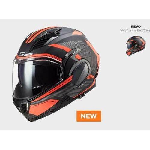 Kask moto ff900 valiant ii revo titan orange nowość 2021 roku marki Ls2