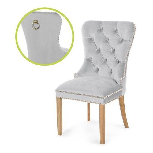krzesło MADAME II GOLD srebrny/dąb/ JA81