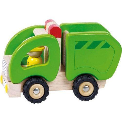 Samochód drewniany - śmieciarka marki Goki