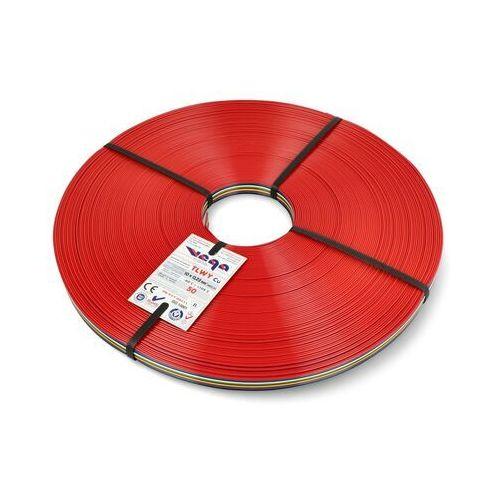 Przewód wstążkowy tlwy - 10x0,22mm²/awg 24 - wielokolorowy - 50m marki Vega tronik