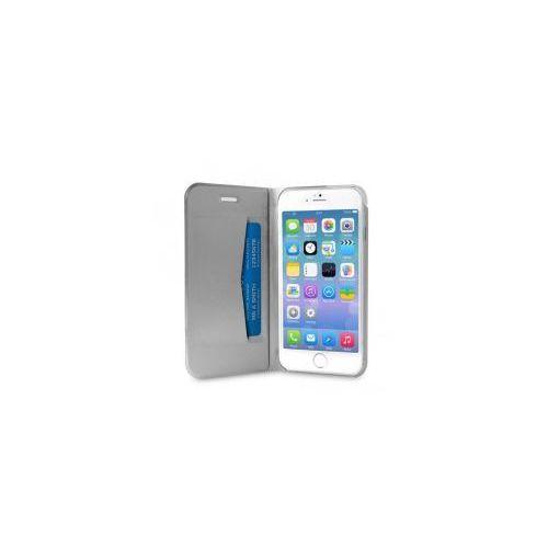 PURO Booklet Wallet Case - Etui iPhone 6 z kieszenią na kartę + stand up (czarny), IPC647BOOKC1BLK
