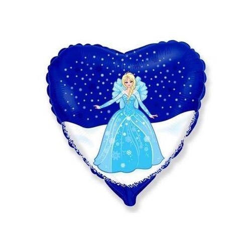 Balon foliowy serce Elsa Frozen - Kraina Lodu - 47 cm - 1 szt. (8435102301847)