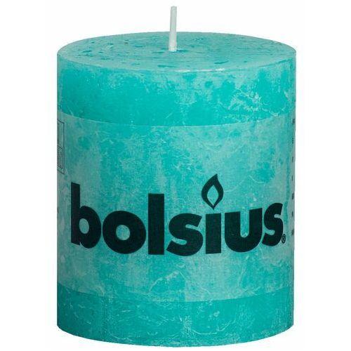 Bolsius Rustykalne świece pieńkowe, 80 x 68 mm, kolor morski, 6 szt.