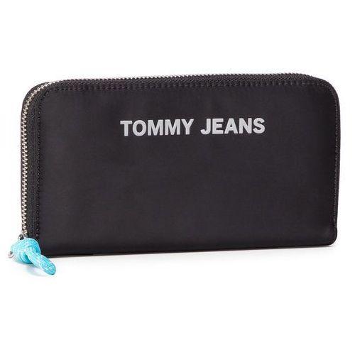 Duży portfel damski - tjw nautical mix lrg wallet nyl aw0aw08414 0f4 marki Tommy jeans