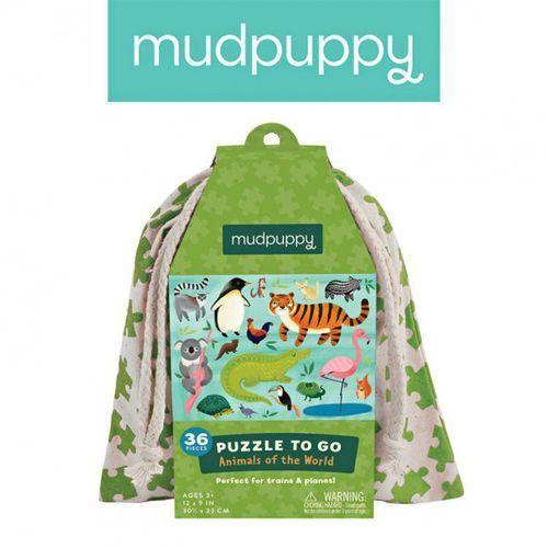 puzzle podróżne w woreczku zwierzęta świata 36 elementów 3+ marki Mudpuppy