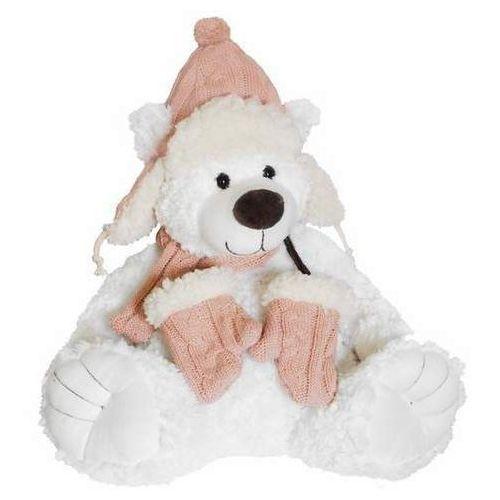 miś niels biały w różowej czapce marki Beppe