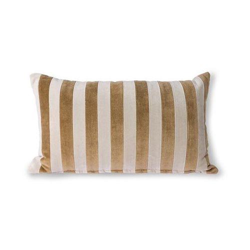 poduszka velvet w paski brązowo-naturalne (30x50) tku2117 marki Hkliving