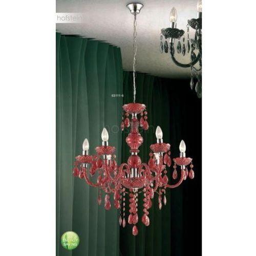 Globo lighting Globo cuimbra i żyrandol czerwony, chrom, 6-punktowe - klasyczny - obszar wewnętrzny - i - czas dostawy: od 2-3 tygodni