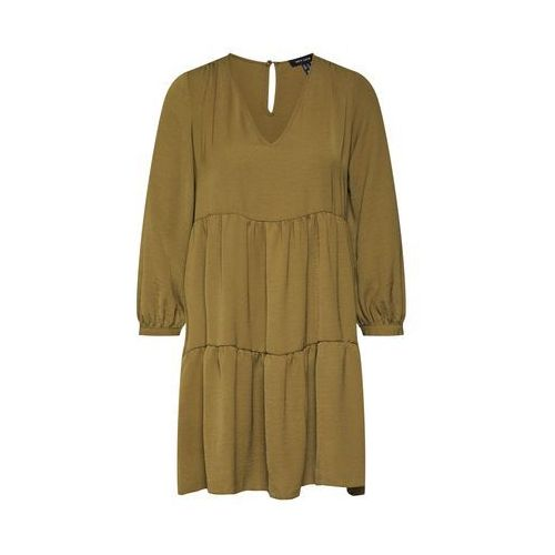 NEW LOOK Tunika 'PLN H/BONE VNK TIER SMOCK' khaki, kolor zielony