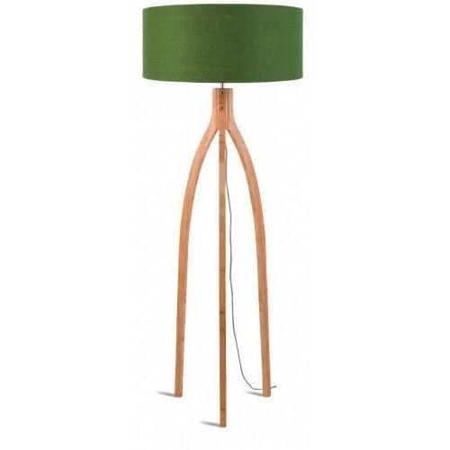 It's about romi Lampa podłogowa annapurna bambus 3-nożna 128cm/abażur 60x30cm, lniany zieleń lasu