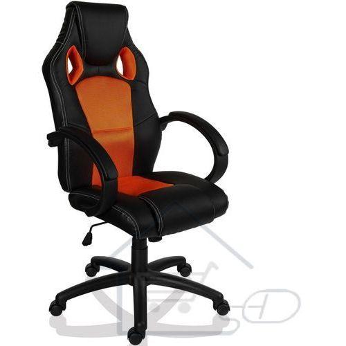 Fotel obrotowy dla gracza, RACEMASTER, pomarańczowy