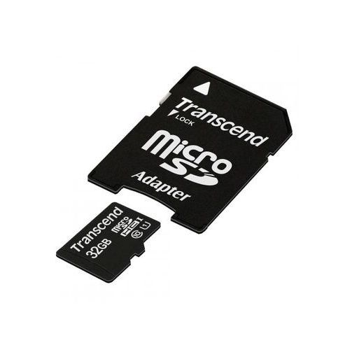 TRANSCEND microSD 32GB TS32GUSDU1 + adapter >> BOGATA OFERTA - SUPER PROMOCJE - DARMOWY TRANSPORT OD 99 ZŁ SPRAWDŹ!, TS32GUSDU1