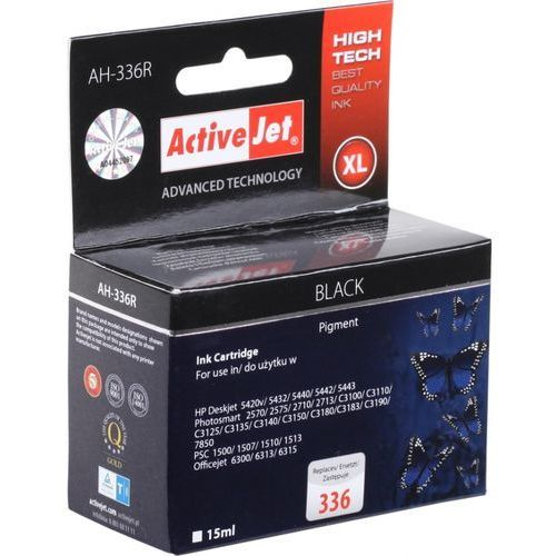 Tusz ActiveJet AH-336R (AH-362) czarny do drukarki HP - zamiennik HP 336 C9362EE (5904356288134)