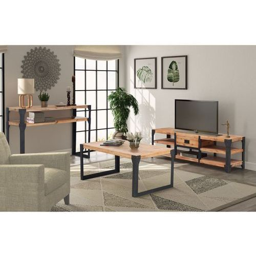 vidaXL Trzyczęściowy zestaw mebli do salonu, drewno akacjowe (8718475559832)