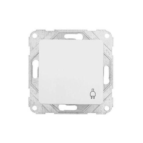 Gniazdo pojedyncze z uziemieniem, z osłoną, biały OPTIMA, 12000902/HAG