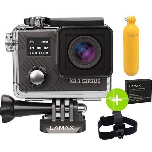 Lamax Kamera sportowa x8.1 sirius + kijek ★★★ zobacz zestawy specjalne ★★★