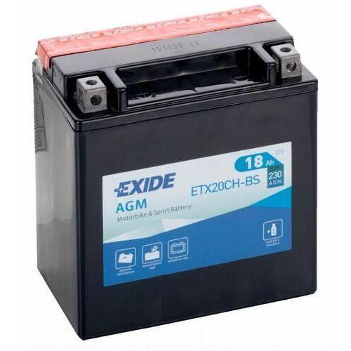 Exide Akumulator motocyklowy etx20ch-bs / ytx20ch-bs 12v 18ah 230a en l+