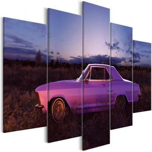 Obraz - Amerykański klasyk (5-częściowy) fioletowy szeroki