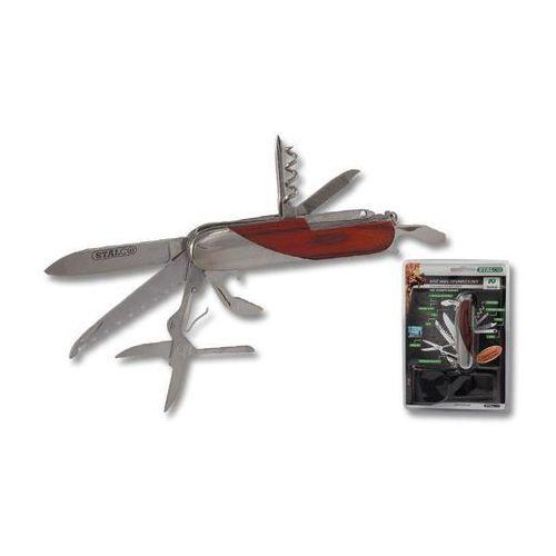 Nóż wielofunkcyjny/Scyzoryk 10 el. Stalco S-17770
