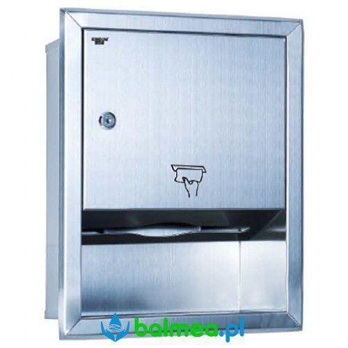Wnękowy pojemnik ręczników papierowych ze stali nierdzewnej, HDC18