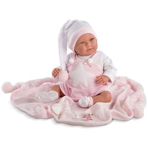 Śmiejąca się Oliwia w różowej piżamie